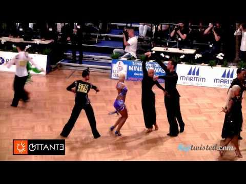 Juri Kagan - Anastasia Selivanova, GOC Stuttgart 2014, WDSF Grand Slam latin, 3. round - samba