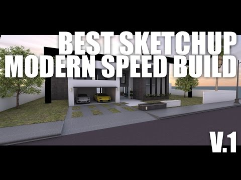 Best Sketchup Modern House Speed Build