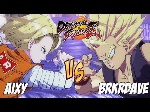Aixy(Android 18/SSJ Vegeta/SSJ Goku) Fights BRKRDave(Teen Gohan/Majin Buu/SSJ Vegeta)![DBFZ]