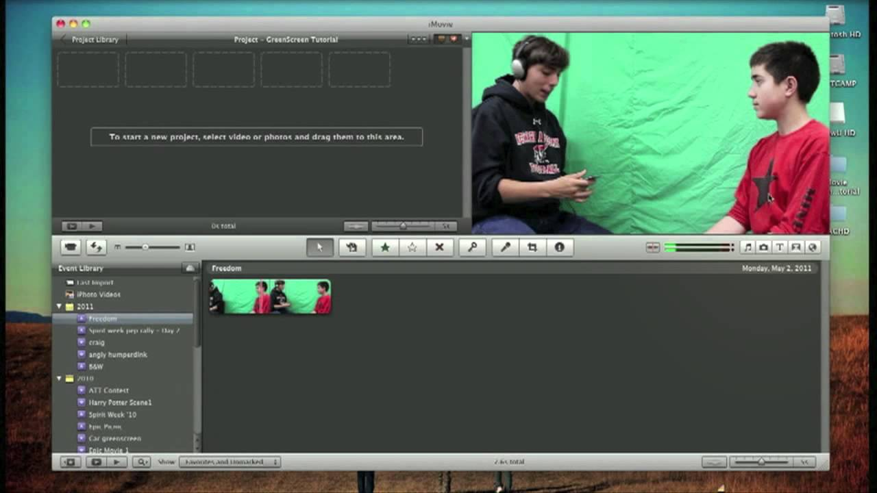 How To Use A Green Screen In Imovie Youtube