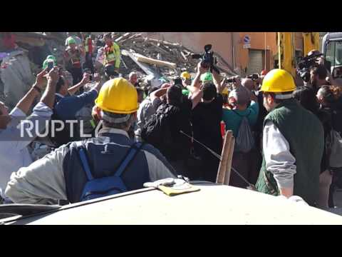 Italy: Rescuers search for survivors of Amatrice earthquake, 38 dead