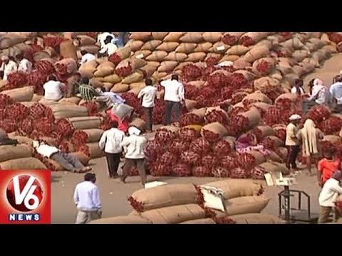 Mirchi Farmers Happy With MSP Rates | Warangal Enumamula Market | V6 News