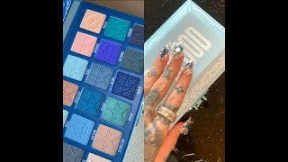 Jeffree Star Swatches The Blue Blood Pallete| SnapChat Story