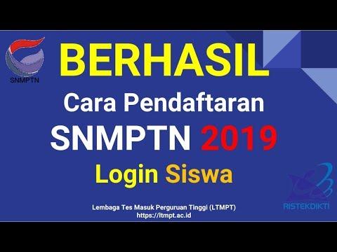 Cara Pendaftaran SNMPTN 2019   Untuk Siswa (Calon Mahasiswa)