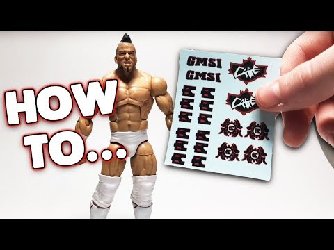 HOW TO APPLY DECALS ON CUSTOM WWE FIGURES!!!