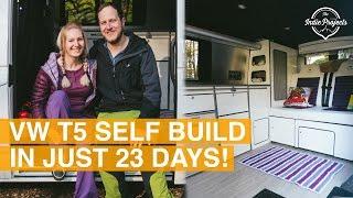 Couple Saves £4000 Self-Converting their VWT5 - Van Tour!