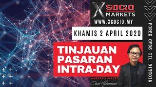 Intraday Forex CFDs, Oil, Bitcoin - Tinjauan Pasaran: Khamis - 2 April 2020