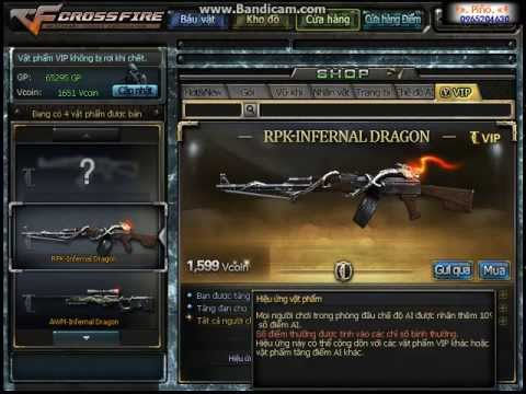 Clip Mua 2 Vip-AWM Infenal Dragon+RPK Infernal Dragon