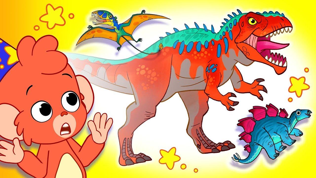 Learn Dinosaurs for Kids | Dinosaur Cartoon videos | T-Rex Giganotosaurus | Club Baboo