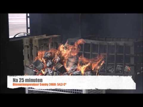 Bekend Sentry brandwerende koffer - XLwinkels.nl - YouTube FU04