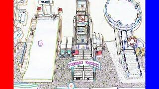 Kids will love this Carnival and Model Fair Ride Midway Drawing