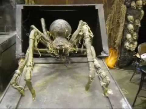 crate spider halloween haunted house animatronic prop youtube
