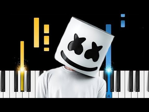 Marshmello Alone EASY Piano Tutorial by Backchodi wala jack office