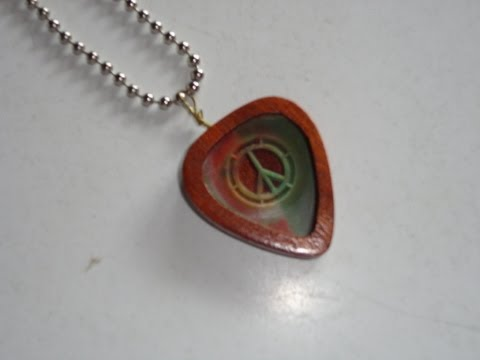 Guitar pick holder and necklace pendant youtube guitar pick holder and necklace pendant aloadofball Image collections