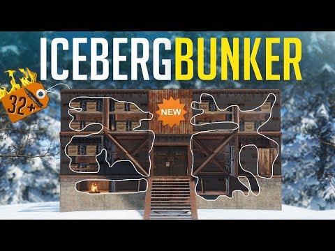NEW BEST ICEBERG BUNKER BASE EVER! - Rust Duo