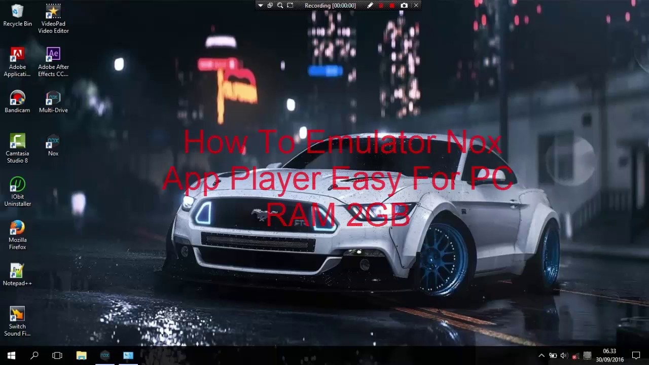 How To Emulator Nox App Player Easy For Pc Ram 2gb Youtube