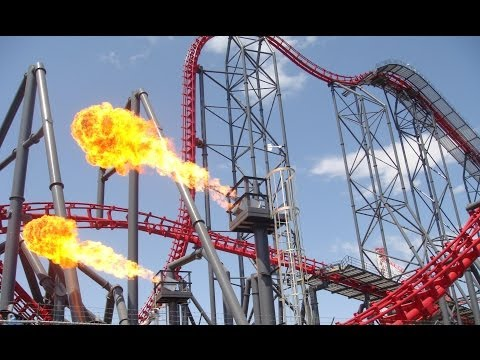 X2 Roller Coaster POV Media Day Six Flags Magic Mountain