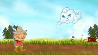 有名なイソップ童話『北風と太陽』が楽しいアニメになりました! ある日...