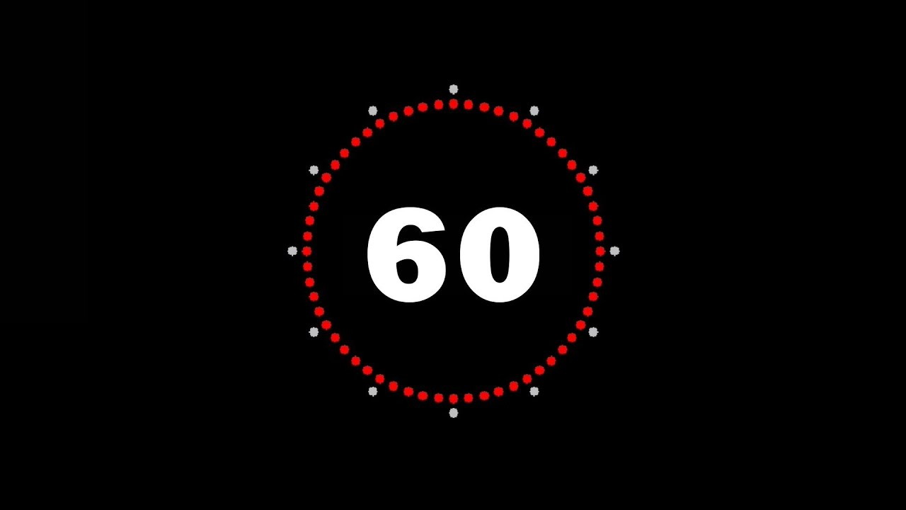 60sec Countdown Timer 1min Compte Rebours Dune Minute FREE With Download Link