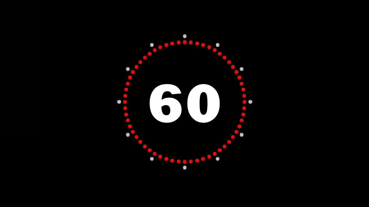 60sec countdown timer 1min   compte  u00e0 rebours d u0026 39 une minute