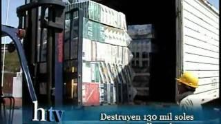Destruyen e incineran 130 mil soles en mercadería de contrabando