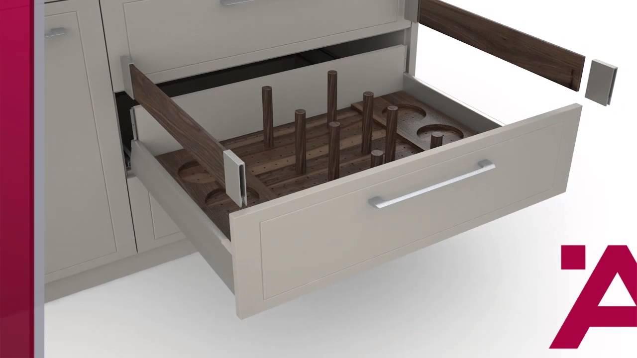Moovit sistema di spondine per cassetti youtube for Scaffalature metalliche ikea