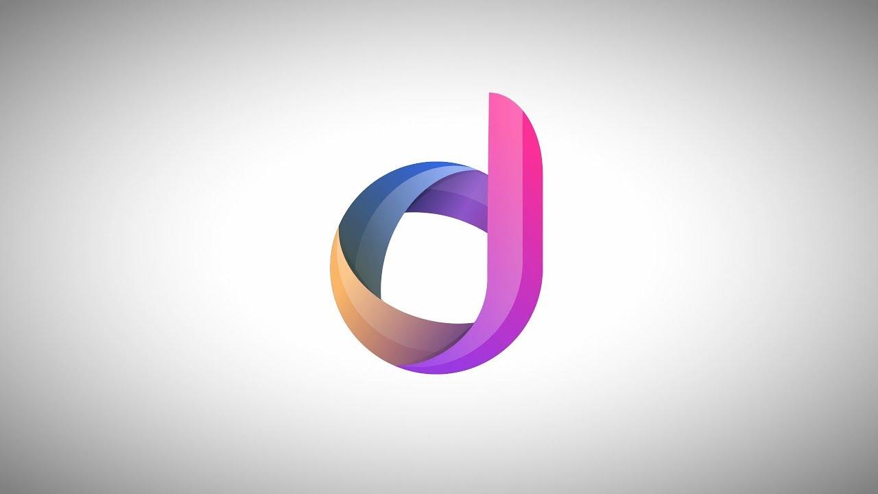 how to design an alphabet logo in gravit designer youtube