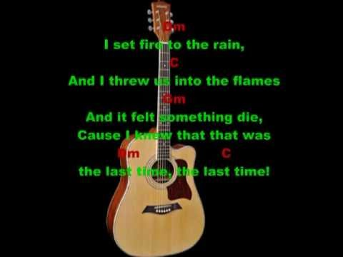 Set fire to the rain (Adele) - Guitar Acoustic Cover - lyrics + ...