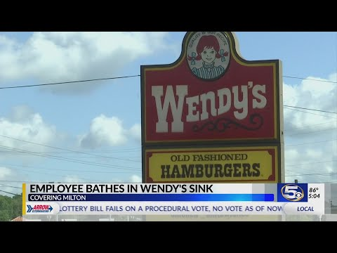 Young Scholar - Florida Wendys Employee Takes A Bath In Store Sink