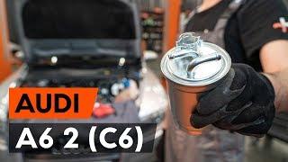 Cоmo cambiar filtro de combustible AUDI A6 (C6) [VÍDEO TUTORIAL DE AUTODOC]