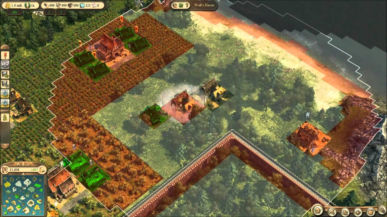 Anno 1404 Efficient Building Layouts.Anno 1404 Starters Guide Placing Farms And Fields Youtube