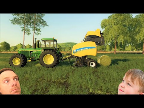 Farming simulator 19 | Its time to bale the hay and we REALLY mess up |