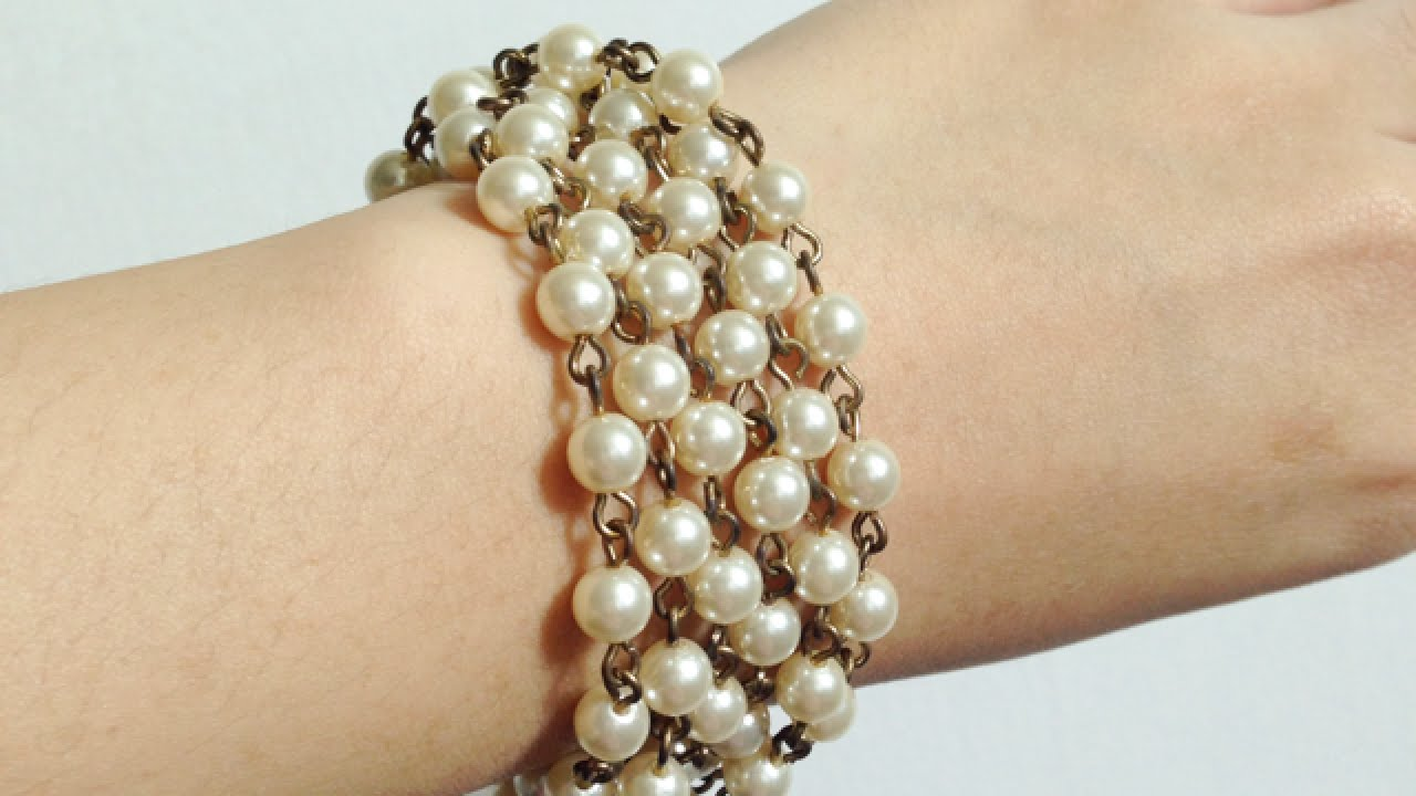 Make A Simple Chunky Pearl Bracelet Style Guidecentral