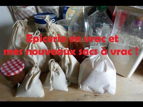 Epicerie en vrac et mes sacs à vrac (1ère expérience)