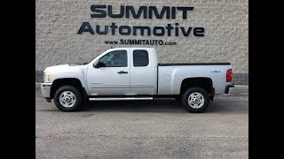 10355 2011 CHEVROLET SILVERADO 2500 DURAMAX DIESEL WALK AROUND REVIEW www.SUMMITAUTO.com