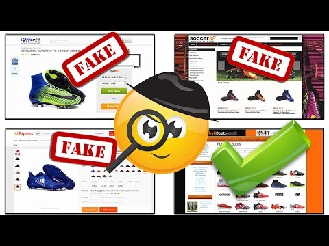 cac9b5bf385 How to Avoid Fake Football Boots & Soccer Cleat Websites - YouTube
