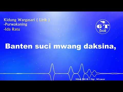 Kidung Wargasari - Purwakaning, Ida Ratu ( Lirik )