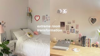 EXTREME room transformation + tour: aesthetic, pinterest, minimalistic inspired