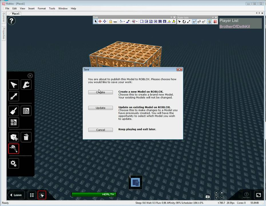 how to make models on roblox