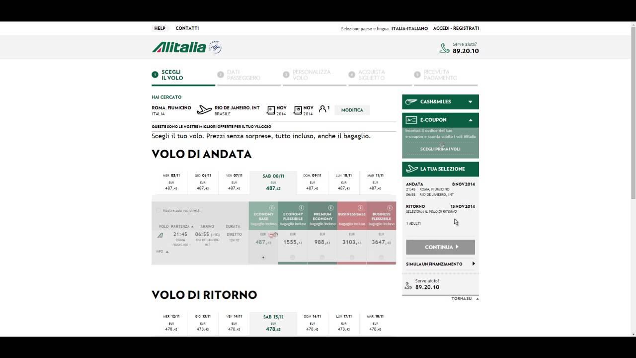 10€ Codice sconto Alitalia | Agosto 2020 | Gazzetta.it