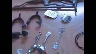 Thrift Hunter Antique Meissen Slugger Copper Weathervane Jewelry Garage Sale Estate Finds #51