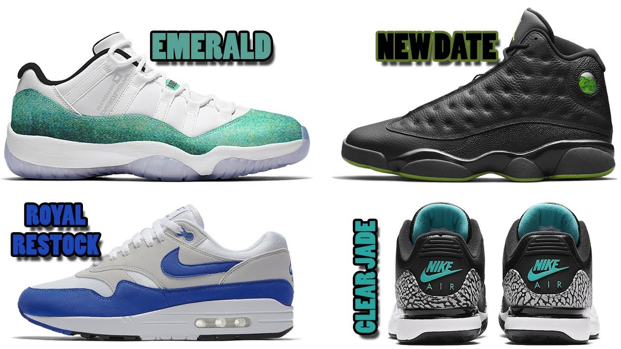 AIR JORDAN 11 LOW EMERALD, JORDAN 13 ALTITUDE NEW RELEASE DATE, AIR JORDANS  LIMITED IN 2018 AND MORE