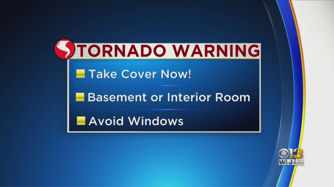 Maryland Weather: Tornado Warnings Around State Monday Night