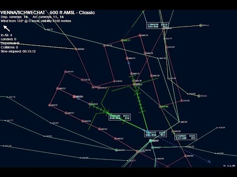 Global Air Traffic Control by Aerosoft | Vienna Radar | Timelapse
