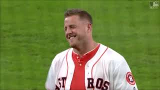 NFL Players Throwing Out First Pitches