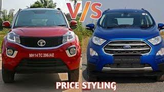 Tata nexon vs Ford ecosport 2018  Price  Styling interior- exterior (Car Guru)