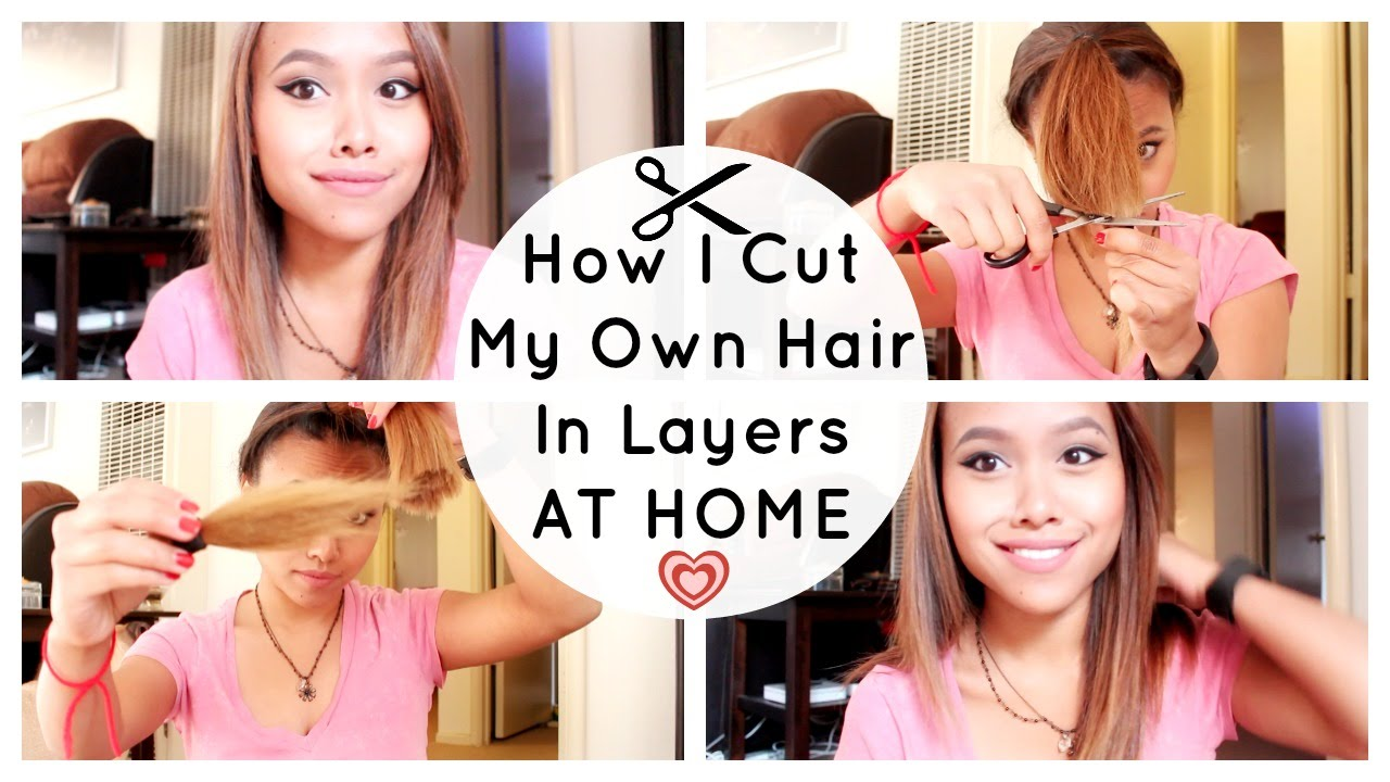 How I Cut My Own Hair in Layers  Great for Covid 10 Quarantine at Home  Haircut