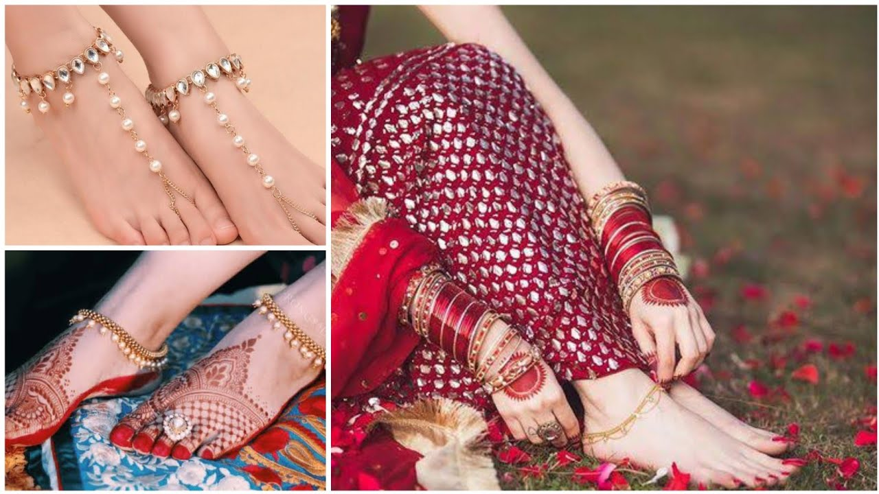 Download Latest Collection Anklet Payal Design 2021.Trendy Payal Design 2021.