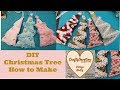 Diy, Christmas Tree decor. fabric crafts, ornament, shabby chic lace embellishment, how to