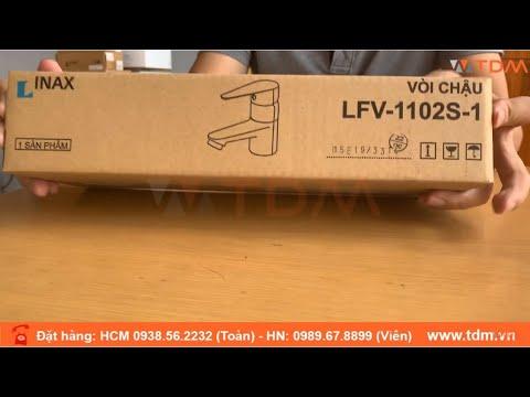 TDM.VN | Đập Hộp Vòi Lavabo Nóng Lạnh Inax LFV-1102S-1 (LFV1102S1) Gắn Chậu Rửa Mặt
